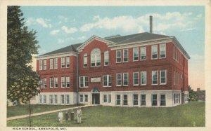 ANNAPOLIS , Maryland, 1910s ; High SChool