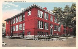 Monticello High School Monticello NY Unused