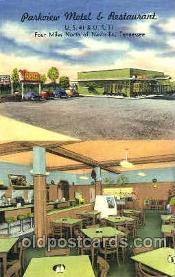 Parkview Motel & Rest. Nashville, Tennessee, USA Postcard Post Card Parkview ...