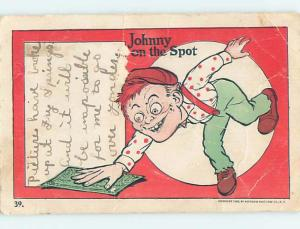 Pre-1907 comic JOHNNY ON THE SPOT FINES CASH MONEY ON THE GROUND HL2016