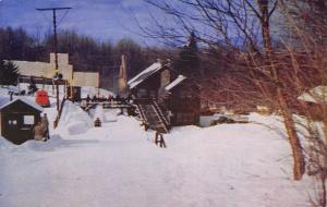 Lake Placid New York~Bobsled Run Finish~Olympic Event~Little Cabins~1950s PC