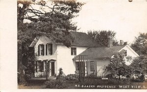 F68/ Westview Cleveland Ohio RPPC Postcard 1909 M.E. Baker's Home Residence
