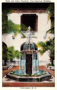 Washington D C The Pan American Building Patio and Aztec Fountain