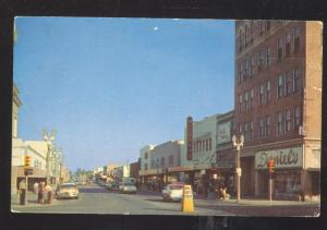 CLEARWATER FLORIDA DOWNTOWN CLEVELAND STREET SCENE 1950's CARS OLD POSTCARD