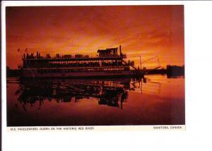 M S Paddlewheel, Queen of Red River, Winnipeg, Manitoba,