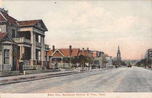 El Paso Texas Mess Avenue Antique Postcard J49559