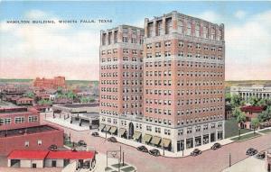 Wichita Falls Texas~Hamilton Building~Panhandle Gas? Station~1940s Postcard