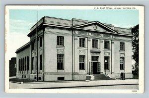 Mount Vernon IL, US Post Office, Chrome Illinois Postcard