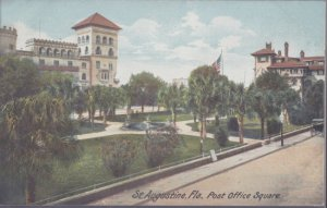 ST AUGUSTINE, view of Post Office Square filled with palms, 1910s - Leighton