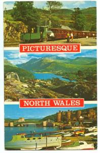 UK, Picturesque North Wales, 1976 used Postcard