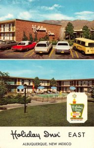 Albuqueque New Mexico Holiday Inn East Route 66 Vintage Postcard JE229928