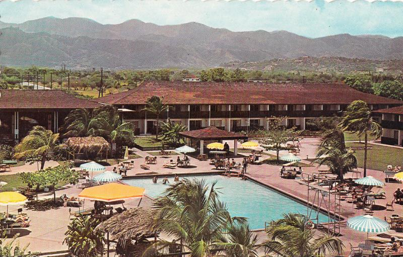 Jamaica Pool Kingston Sheraton Hotel Postcard