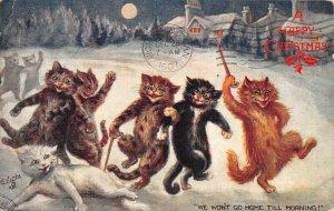LP41 Cats  Louis Wain Christmas Postcard  Tuck Publisher