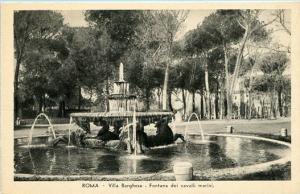 Italy - Rome,  Villa Borghese - Fountain dei Cavalli Marini