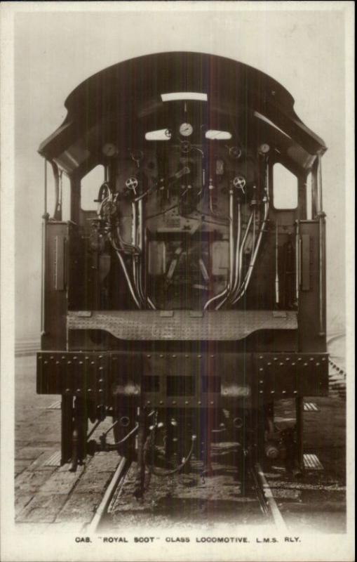 Royal Scot Class Locomotive LMS Railway Real Photo Postcard