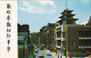 New York City Chinatown Street Scene