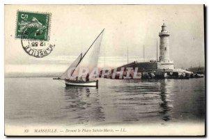 Old Postcard Marseille Devant Le Phare Ste Marie