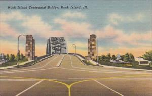 Illinois Rock Island Centennial Bridge 1953