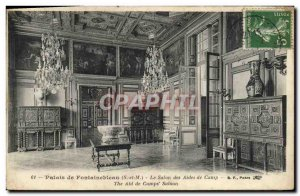 Old Postcard Palace of Fontainebleau The living aides
