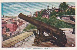 Remparts Et Vieux Canons, Quebec, Canada, 30-40s