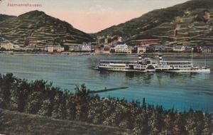 ASSAMANNSHAUSEN, Hesse, Germany, 1900-1910's; Ferry Boat