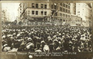 San Francisco CA Unveiling Tetrazzini Statue 1912 Real Photo Postcard