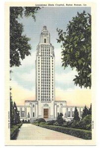 Louisiana State Capitol, Baton Rouge, La. unused linen Curteich