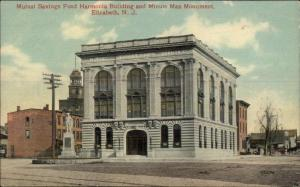 Elizabeth NJ Bank Bldg c1910 Postcard
