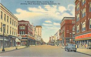 Broughton Street & Main Business District Savannah Georgia
