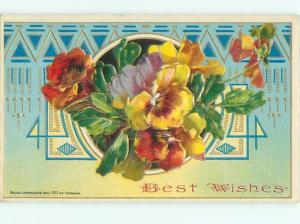Divided-Back BEAUTIFUL FLOWERS SCENE Great Postcard AA2220