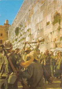 B29408 Jerusalem Israeli Troops at the Wailing wall  israel