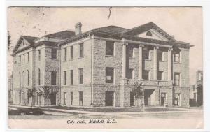 City Hall Mitchell South Dakota 1909 postcard