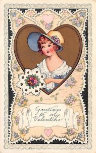 Whitney Made St. Valentines Day Postcard PU 1923