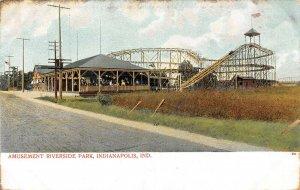 LP84 Indianapolis Indiana Postcard Riverside Amusement Park
