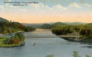 VT - Brattleboro. Suspension Bridge over the Connecticut River
