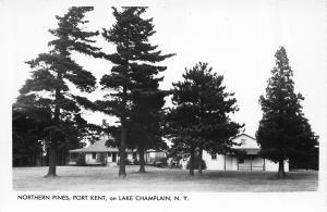 PORT KENT, NEW YORK NORTHERN PINES BLDGS  RPPC REAL PHOTO POSTCARD