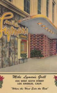 LOS ANGELES, California, 1930-40s; Mike Lyman's Grill