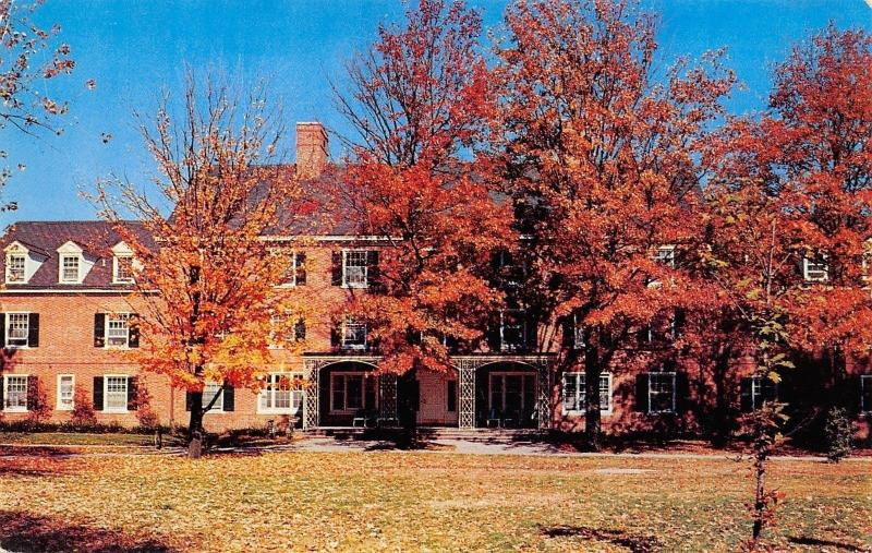 Berea Kentucky~Berea College~Anna Smith Dormitory~Autumn Leaves~1960s PC