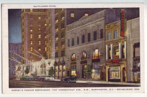 P1083 unused harvey,s restaurant street scene old cars signs etc washington D.C.