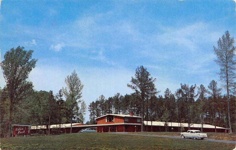 Durham North Carolina~Eden Rock Motel~1960 Postcard