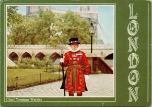 Chief Yeoman Warder London England UK Postcard D59