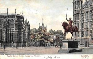 Poets Corner & St. Margarets Church Statue Monument London