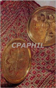 Postcard Modern Khamidov Trays Copper Flat and Relief Chasing