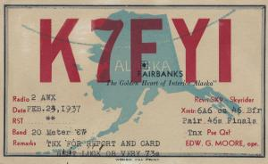 Alaska USA QSL 1930s Radio Enthusiasts American Old Postcard