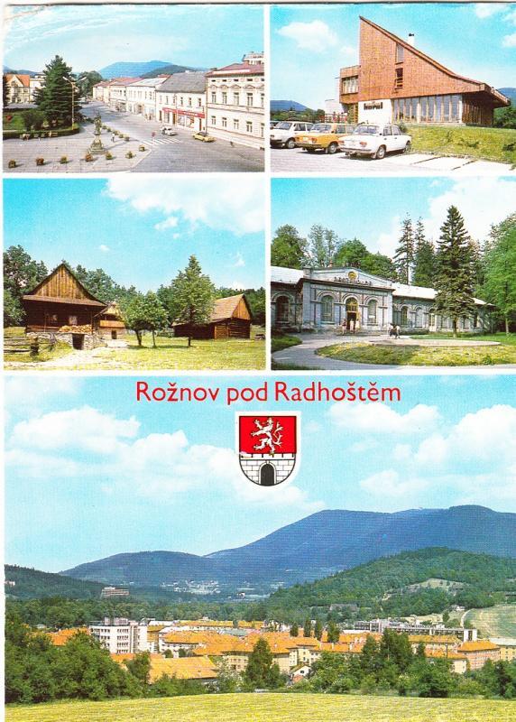 Czech Republic, Roznov pod Radhostem, used Postcard
