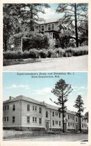 State Sanatorium Arkansas Superintendents Home And Dorm Antique Postcard K10125