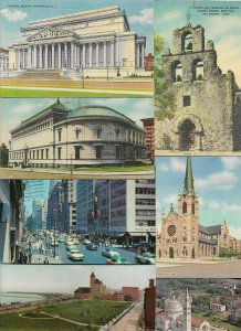 USA Texas Ohio Chicago NY And More Postcard Lot of 30 01.04