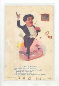 Vinegar Valentine Comic   A Silly Singer, PU-1906