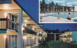 Swimming Pool, Exterior Night View of Quality Inn, Florence, South Carolina, ...