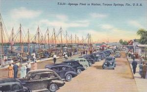 Florida Tarpon Springs Sponge Fleet In Harbor